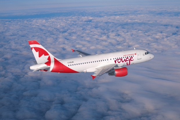 Air Canada Rouge Airbus A319. (Rendering by Air Canada rouge)