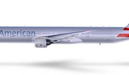 American Airlines new livery on a Boeing 777-300ER.