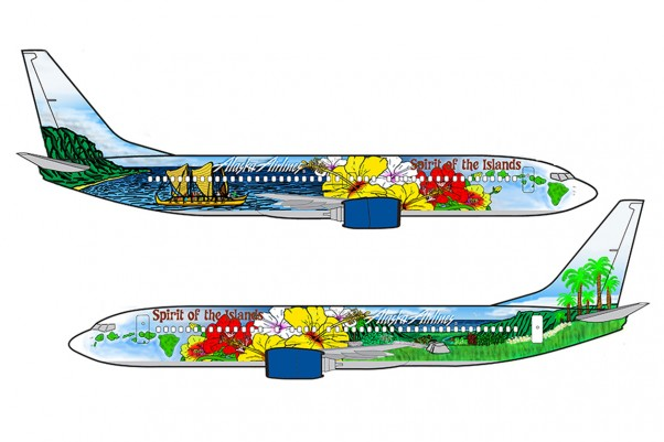 The winning design created by high school student Aaron Nee. (Image courtesy of Alaska Airlines)