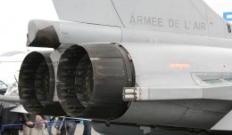 Tail section of a Dassault Rafale jet. (Photo by Georges Seguin via wikimedia, CC-BY-SA)