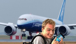 Dell dude is excited. (Photo composite by NYCAviation/Boeing/Dell)