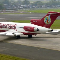 Kingfisher Airlines Boeing 727 (N727VJ) at Mumbai. (Photo by Sean d'Silva via wikimedia)