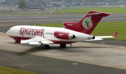 Kingfisher Airlines Boeing 727 (N727VJ) at Mumbai. (Photo by Sean d&#039;Silva via wikimedia)