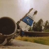 Kuwait Airways Airbus A300 destroyed during Iraqi invasion.