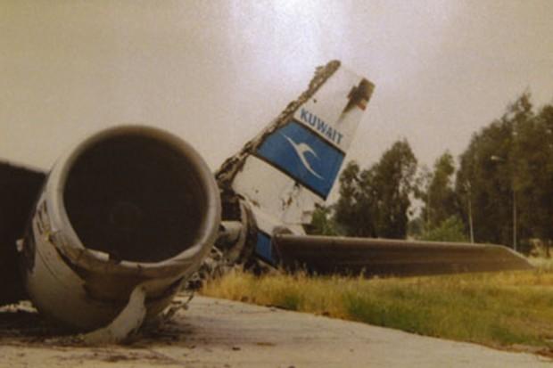 Kuwait Airways Airbus A300 destroyed during Iraqi invasion.