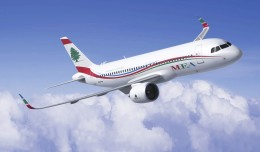 Middle East Airlines Airbus A320neo. (Rendering by Fixion/Airbus)