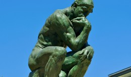 Auguste Rodin&#039;s sculpture &quot;The Thinker&quot; is among those on display at Charles De Gaulle Airport. (Photo by Daniel Stockman via wikimedia, CC-BY-SA)