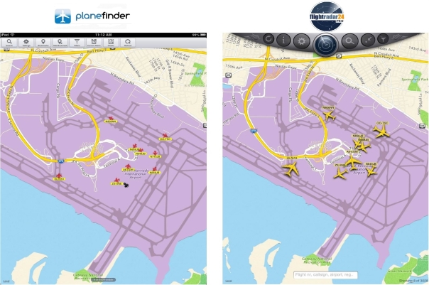 Larger, more detailed icons in FlightRadar24 make it easier to identify an aircraft