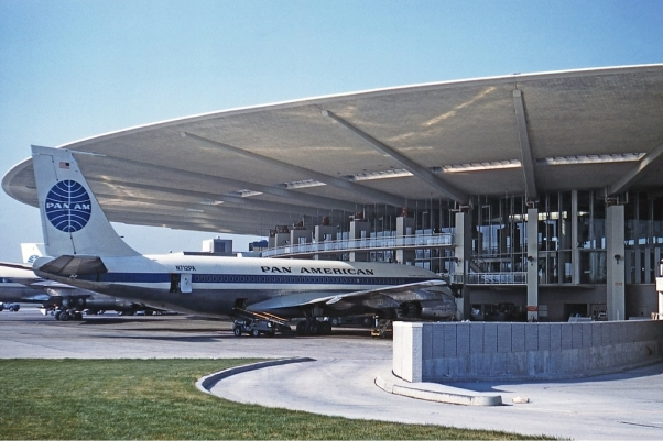 JFK's Pan Am Worldport in 1961.  (Photo by Jon Proctor via Wikipedia Commons)