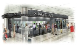 Artist rendering showing of Shake Shack, where noms can be obtained at Terminal 4 this May.