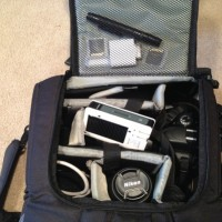 The plane spotters toolkit. Cleaning pen, cell phone battery recharger, SD card reader, and more!