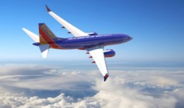 Rending of a Southwest Airlines Boeing 737 MAX 7