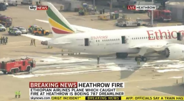 Ethiopian 787 at LHR