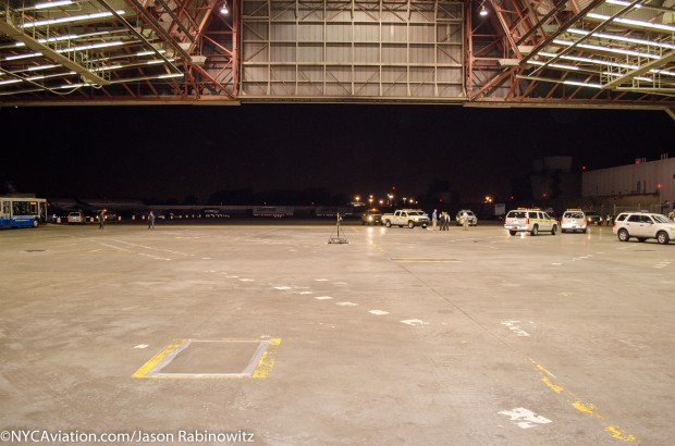 Hangar 19, home of Solar Impulse for the time being