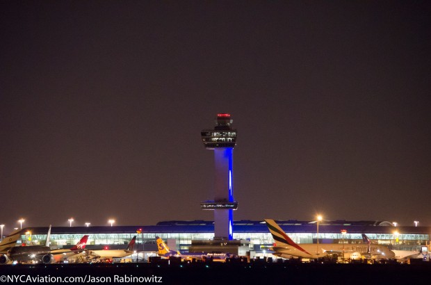 JFK Tower and Terminal 4 From 22L