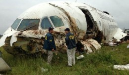 The NTSB on scene at the site of the UPS A300 crash