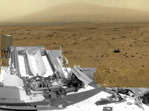 Billion-Pixel View From Curiosity at Rocknest, Raw Color