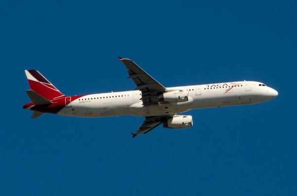 A TACA A321 climbs out of JFK.