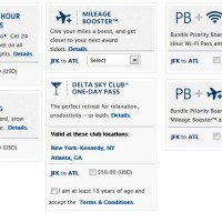 The usual selection of extras on the Delta.com booking page