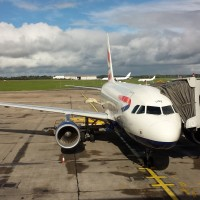One of the two British Airways A318s at the gate in Shannon, Ireland.