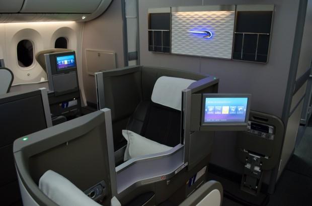 British Airways 787 Club World Cabin