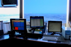 A portion of the Clearance Delivery console.