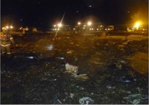 Image of the crash scene in Kazan. (Photo courtesy of Twitter)