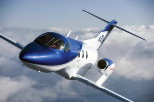 The HondaJet features engines mounted above the wing. (Source: Honda)