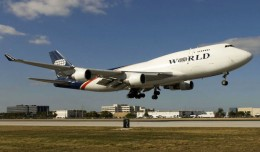 A World Airways Boeing 747. (Photo courtesy of Global Aviation)