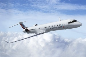 A Bombardier CRJ900 NextGen in the American Eagle livery. Image courtesy American Airlines Group
