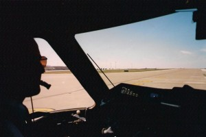 The author in command of an EMB-120 Brasilia in 1998.