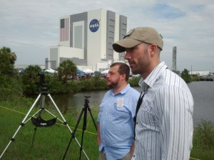 NYCA Co-founders Matt Molnar and Phil Derner Jr. at the launch of STS-135.