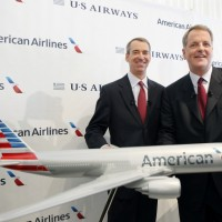 American Airlines Group CEO Doug Parker (right) and outgoing Chairman Tom Horton.