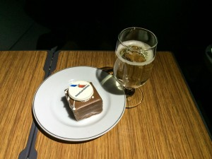 A Champagne Toast and a Bit of Chocolate Cake