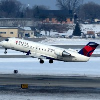 A Delta Connection CRJ-200. Photo courtesy Flickr Creative Commons user redlegsfan21.