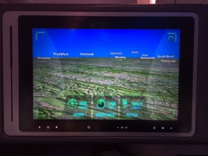 Pilot's View Moving Map on the IFE screen.