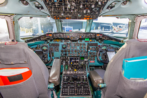 """The DC-9 flight deck is the epitome of """"old school""""."""