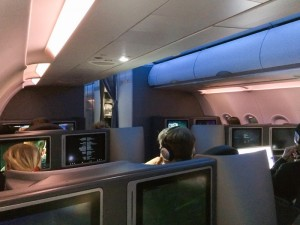 View from Seat 8A in Business Class