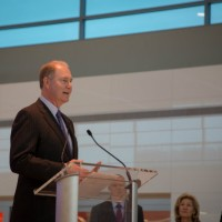 Gary Kelly, President, Chairman, and CEO of Southwest Airlines, Addresses the media at Dallas Love Field. Photo courtesy Southwest Airlines.
