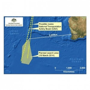 The focus of today's search by the Australian-led search team in the southern Indian Ocean.