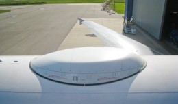 A LiveTV Radome. (NYCAviation file photo)