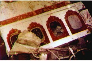 Wreckage from an Air India 747 is seen on the ocean floor one year after being bombed.