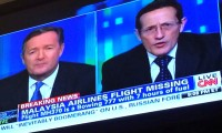 In the immediate aftermath of MH370's disappearance, CNN ran a ticker an unfortunate misspelling of airframe manufacturer Boeing's name.