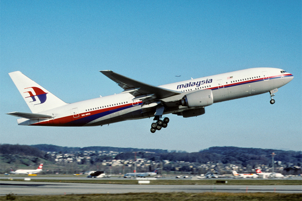Malaysia Airlines 777-2H3-ER, registered 9M-MRO, which went missing Friday as flight 370. (photo via Aero Icarus on Flickr)
