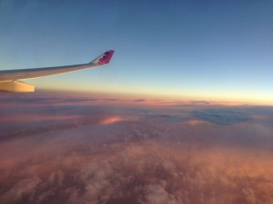 A gorgeous view as the sun quickly set behind our aircraft.