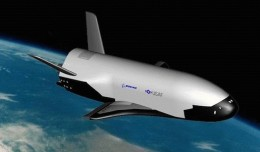 An artistic conception of the X-37B in Earth orbit. Credit: The U.S. Air Force
