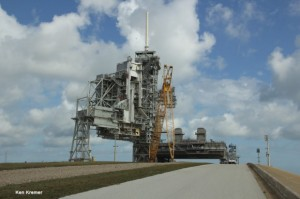 Launch Pad 39A has lain dormant save dismantling since the final shuttle launch on the STS-135 mission in July 2011. Not a single rocket has rolled up this ramp in nearly 3 years. SpaceX has now leased Pad 39A from NASA and American rockets will thunder aloft again with Falcon rocket boosters starting in 2015. Credit: Ken Kremer/kenkremer.com