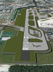 Rendering of the completed Runway 10R/28L (Broward County Aviation Department)