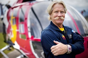 Living Legend of Aviation and Red Bull helicopter pilot Chuck Aaron (photo courtesy Disney Animation)