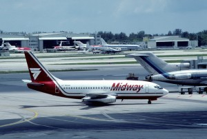 A Midway 737-200 in Miami.